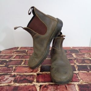 BLUNDSTONE Mens Rustic Brown Ankle Boots 10.5